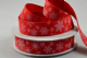 CR Ribbon: Red Cotton Ribbon with Snowflakes 15mm